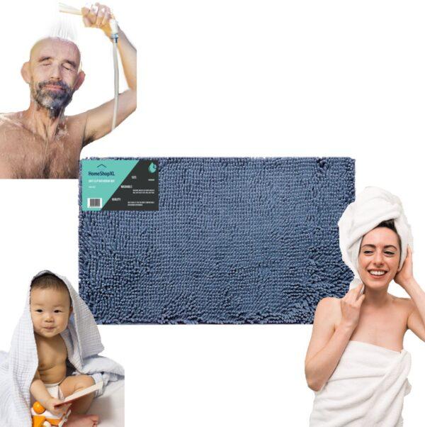 Antislip badmat 50x80 blauw