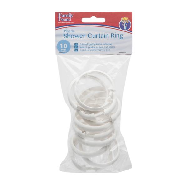 Douchegordijn ringen 10 stuks wit