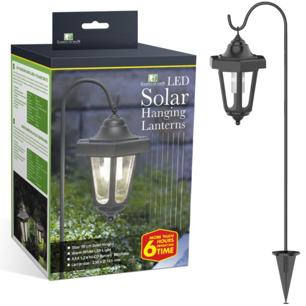 Tuinlantaarn Solar Led Vintage Hangend