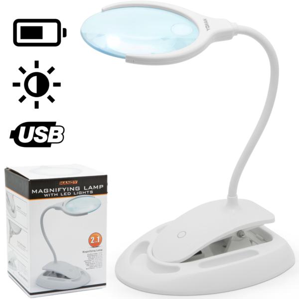 Vergrootglas met verlichting Bureau loep lamp met standaard