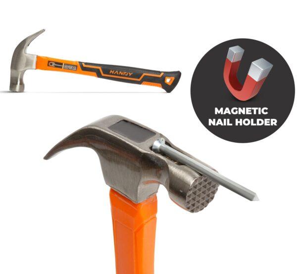 Magnetische Klauwhamer Hamer HANDY Gehard Staal