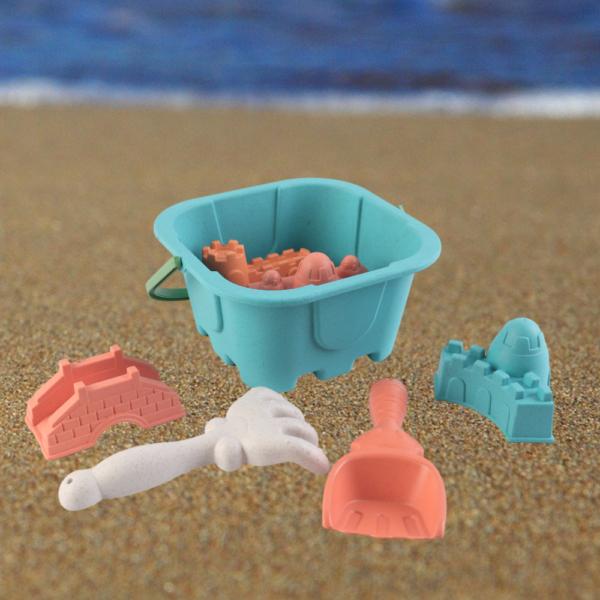 Zandbak Zandkasteel Strand Speelgoed Emmer Schepje en Harkje