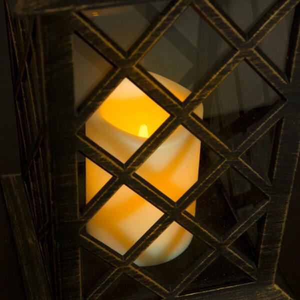 Landelijke Tuin Lantaarn met LED Kaars