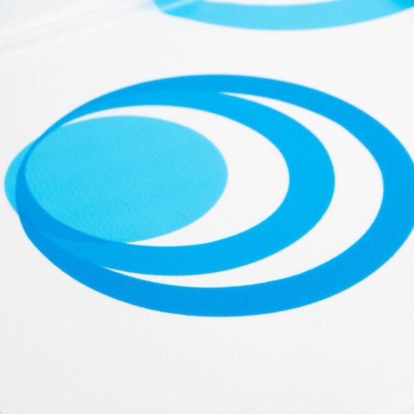 Douchegordijn 183x183CM Blauw met Wit