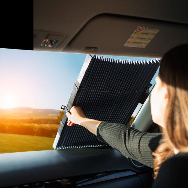 Zonnescherm Voorruit Gordijn Zonwering Auto