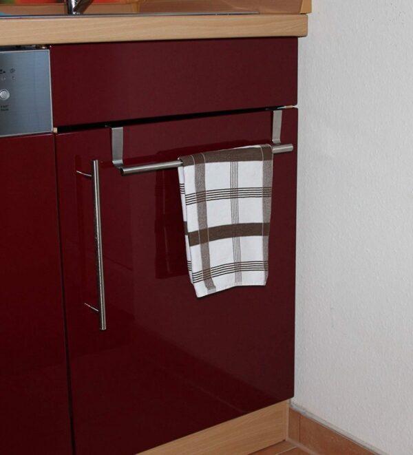 Handdoek houder voor Kastdeur Keukendeur RVS