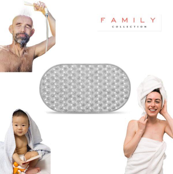 Grijs Transparant Badmat Family Pound