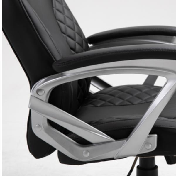 Luxe Ergonomische Bureaustoel Zwart Kunstleer
