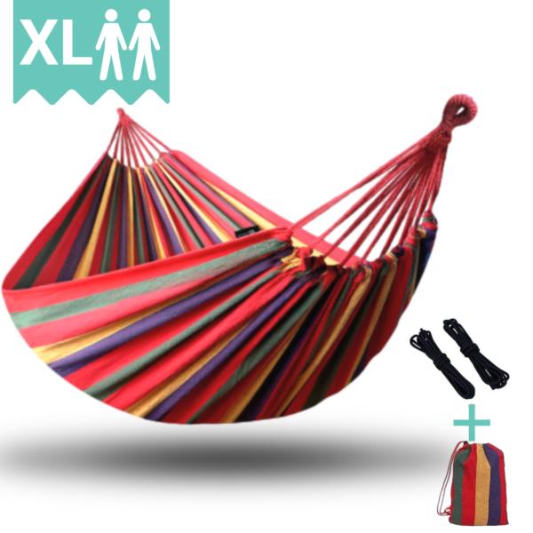 Dubbele 2 persoons Hangmat Rood HomeShopXL Tweepersoons XL Hangmat