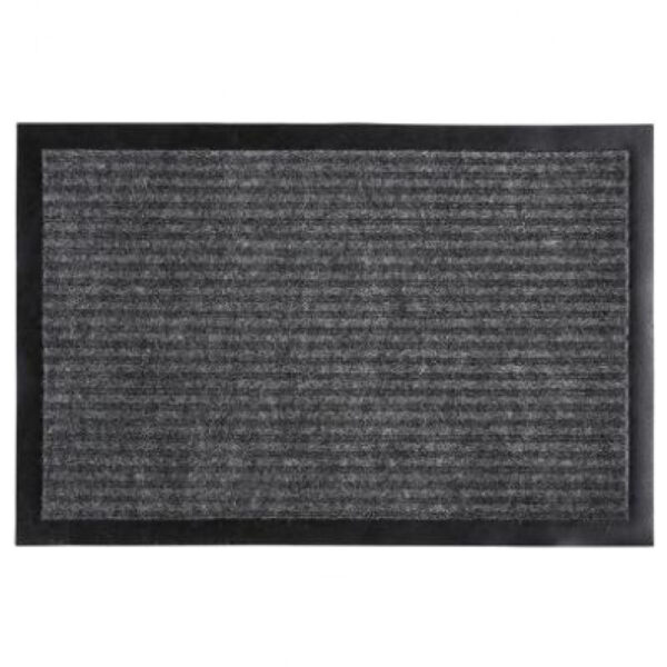 Deurmat Droogloopmat 60x40 Zwart met Grijs