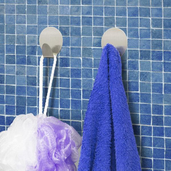 Zelfklevende Handdoek Haakjes Haken RVS 2