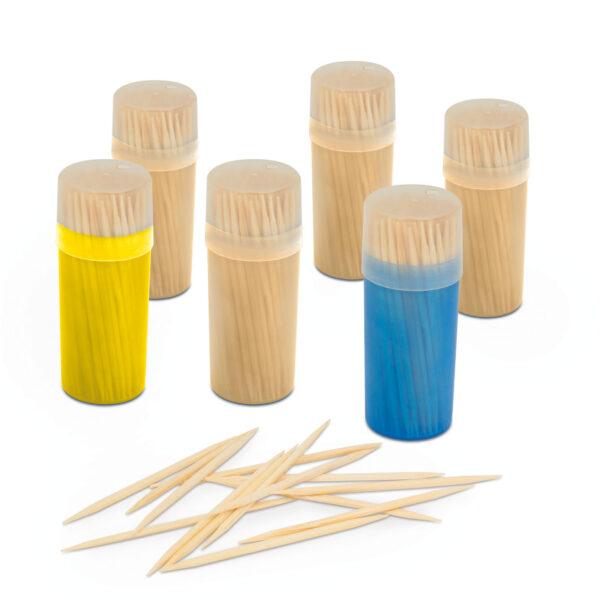 Tandenstokers Toothpicks met Houder 600 stuks