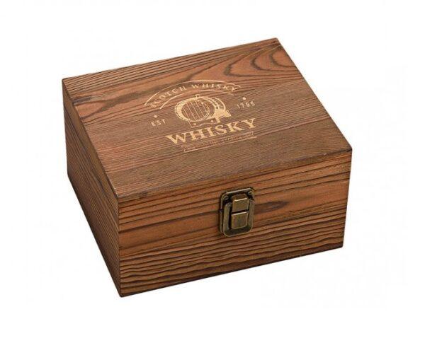 Whiskey Glas Whiskey Stones Cadeauset Houten doos