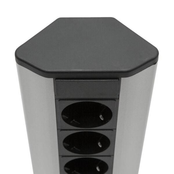 Hoek Stekkerdoos Delight 3 Hoekstopcontacten met 2x USB Poort