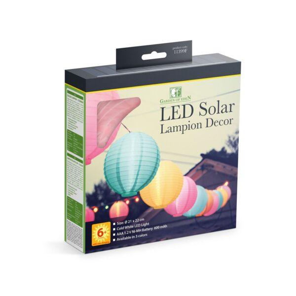 Tuin Lampion Set van 3 Solar LED op Zonne-Energie