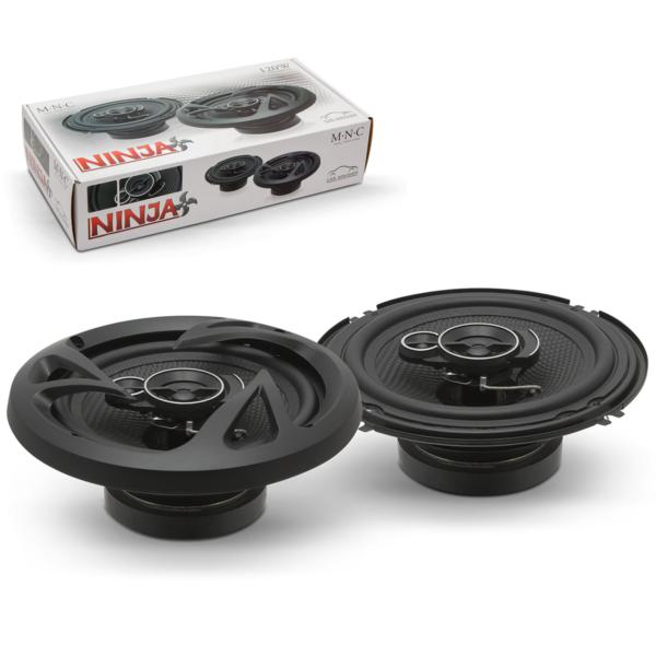 MNC Ninja Auto Luidsprekers Set Speakers Zwart